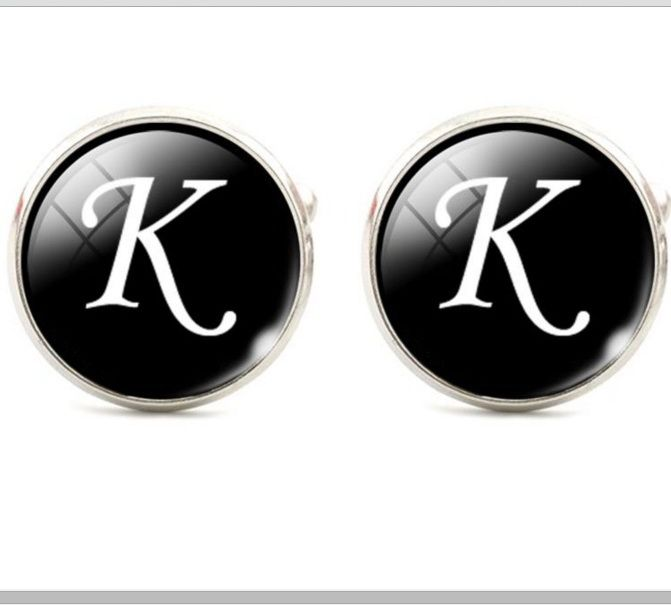 Запонки буква К