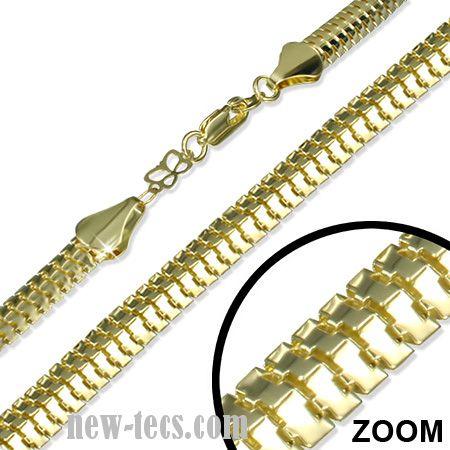 Широкая плоская цепь на шею