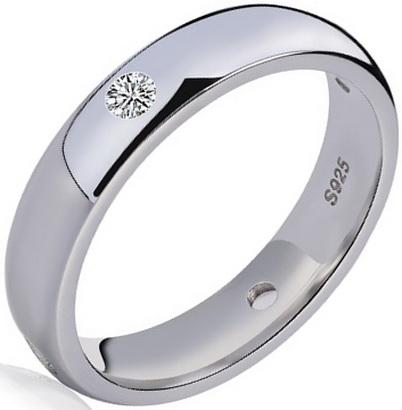 Кольцо с платиной