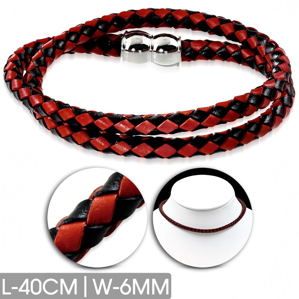 Кожаный браслет-чокер