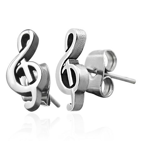 Серьги Скрипичный ключ