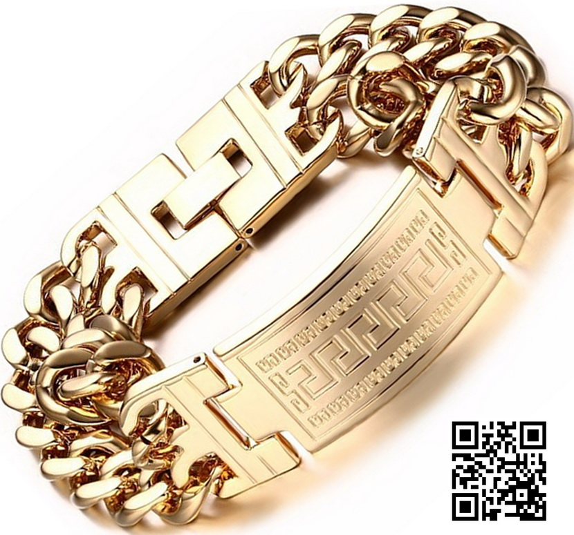 Стальной браслет Versace